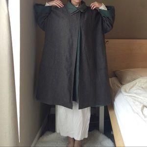 RARE Vintage Japanese Wool Coat.-I7.